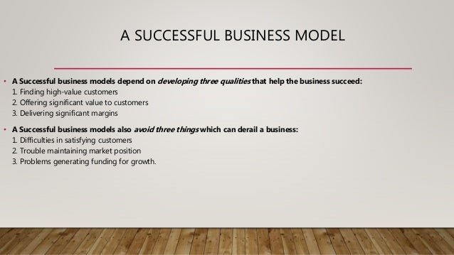 Transferring the successful business model of