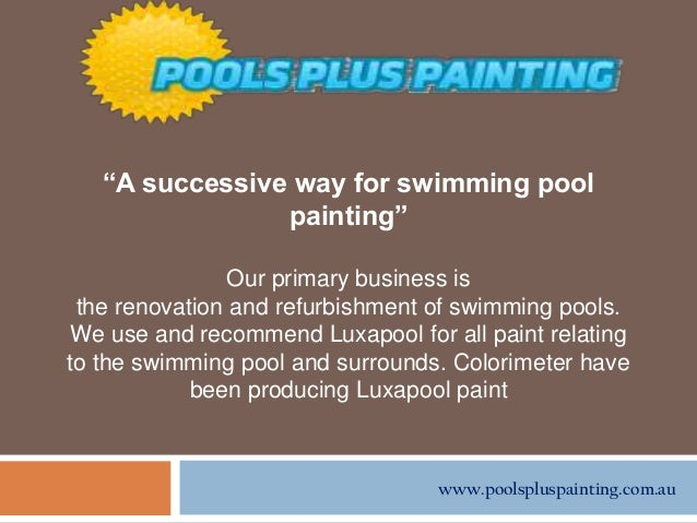 The Successful Key Of Swimming Pool Painting With Epoxy