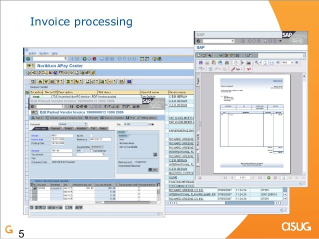 OCR And Content Management With SAP And Imaging - Sap invoice automation