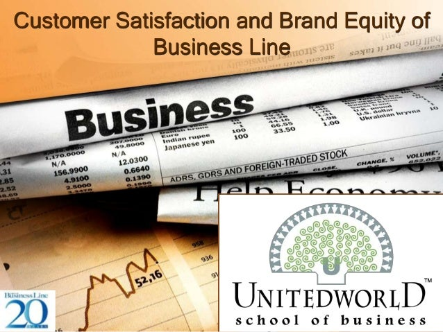Customer Satisfaction and Brand Equity of Business Line
