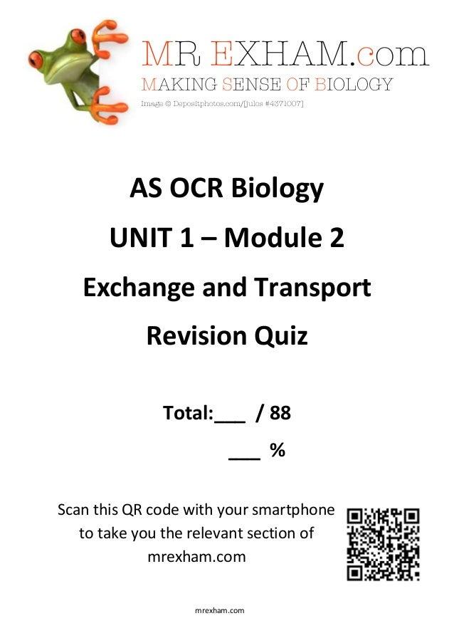 biology unit 2 module 2 The cape biology examination comprises paper 01  module 3 - reproductive biology unit 2 module 1 - bioenergetics module 2 - biosystems maintenance.