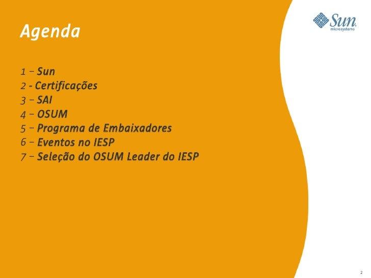 A Sun no Meio Acadêmico - IESP/FatecPB Slide 2