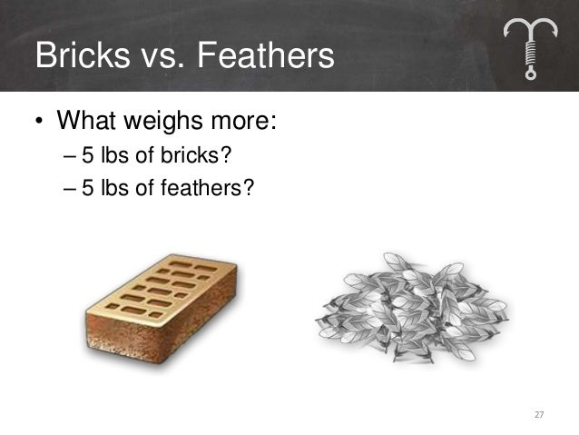 Bricks vs. FeathersContent Type              Bricks           FeathersDefinition             Productions      Posts & Snip...