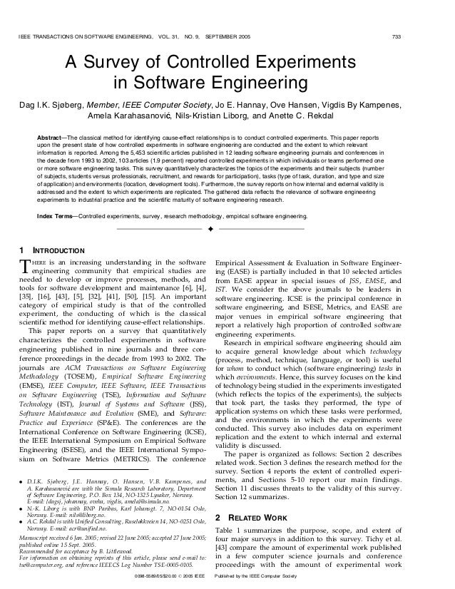 IEEE TRANSACTIONS ON SOFTWARE ENGINEERING,               VOL. 31,    NO. 9,      SEPTEMBER 2005                           ...