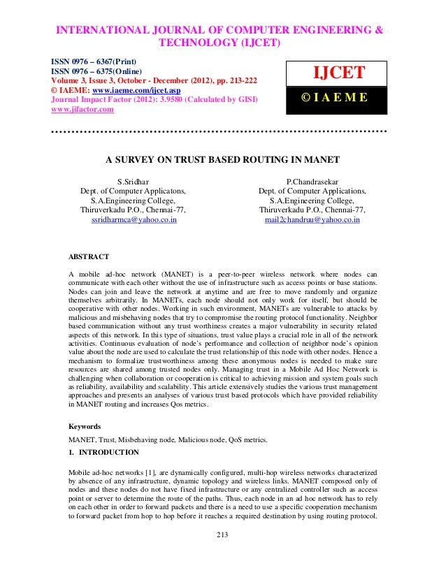 INTERNATIONAL JOURNAL OF COMPUTER ENGINEERING & International Journal of Computer Engineering and Technology (IJCET), ISSN...