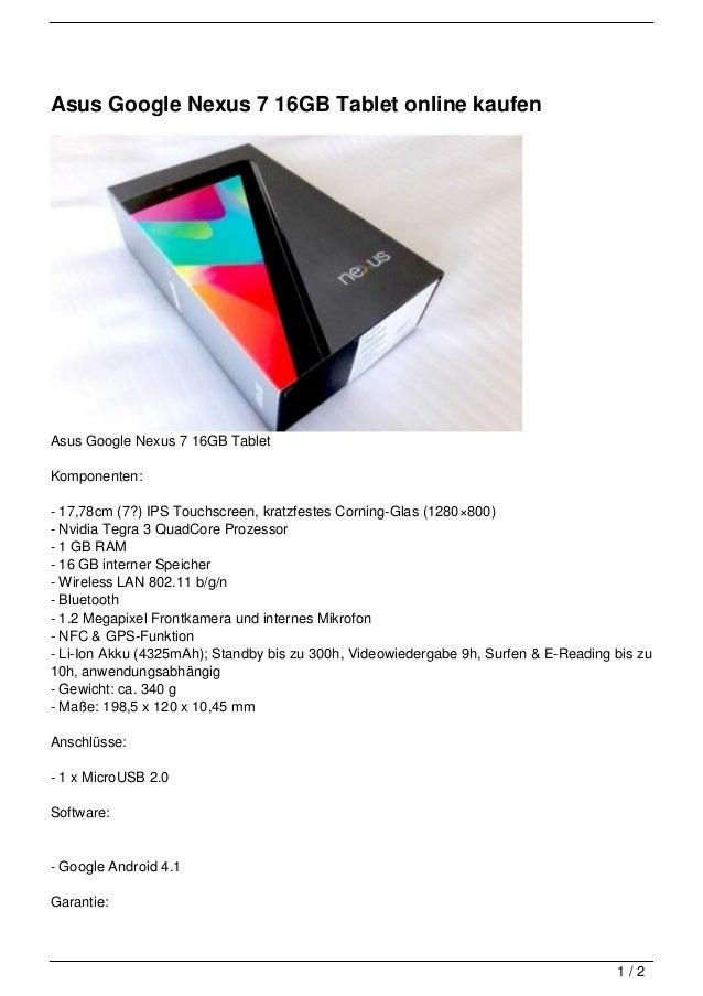 Tablet Online Kaufen : asus google nexus 7 16gb tablet online kaufen ~ Watch28wear.com Haus und Dekorationen
