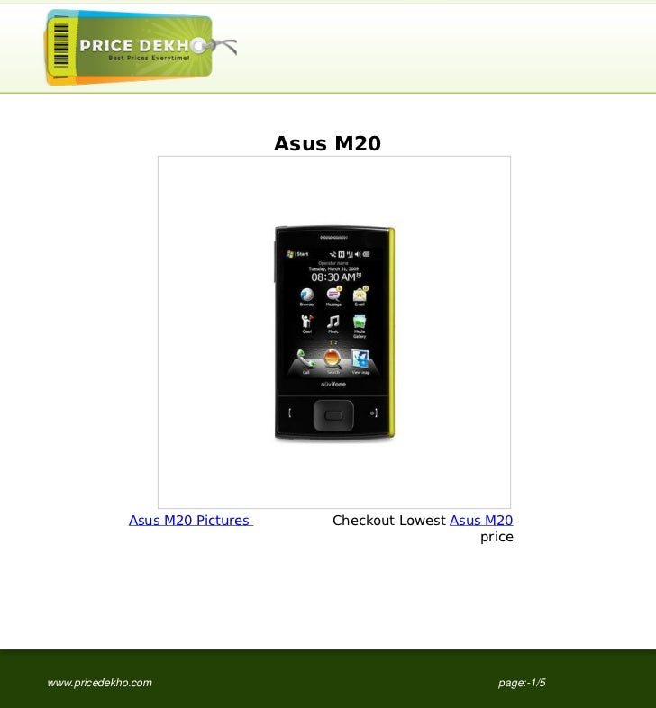 Asus M20              Asus M20 Pictures       Checkout Lowest Asus M20                                                    ...
