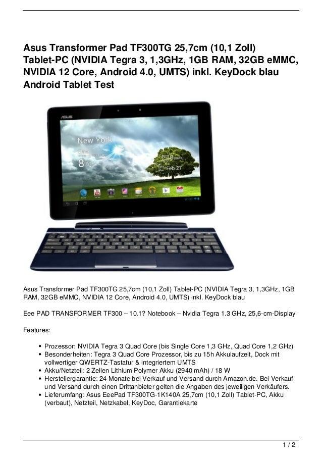 asus transformer pad tf300tg 25 7cm 10 1 zoll tablet pc. Black Bedroom Furniture Sets. Home Design Ideas