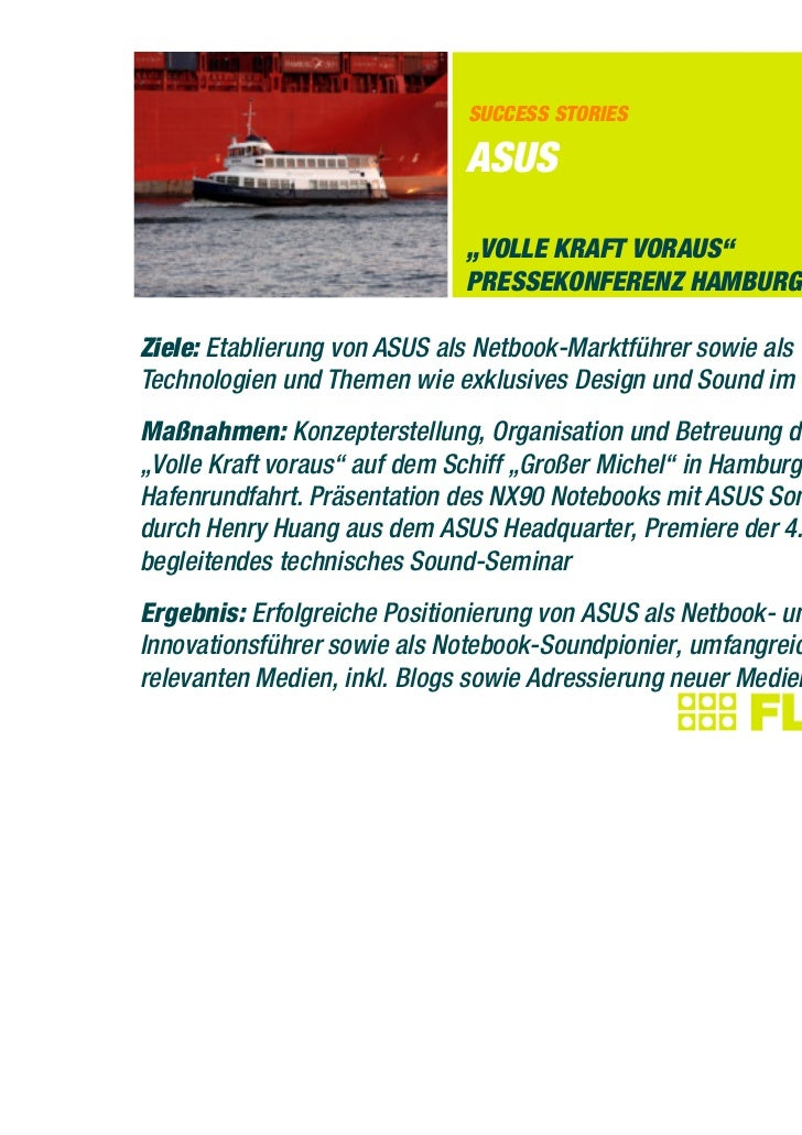 "SUCCESS STORIES                              ASUS                              ""VOLLE KRAFT VORAUS""                       ..."