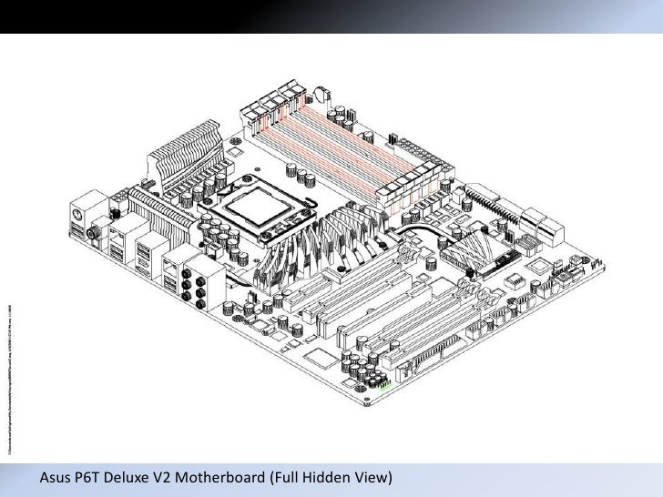 Motherboard Drawing: Asus P6 T Drawing