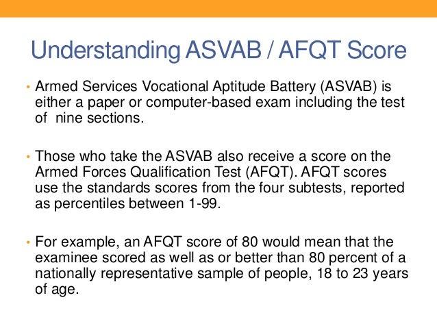 Testing Location 3 Understanding ASVAB