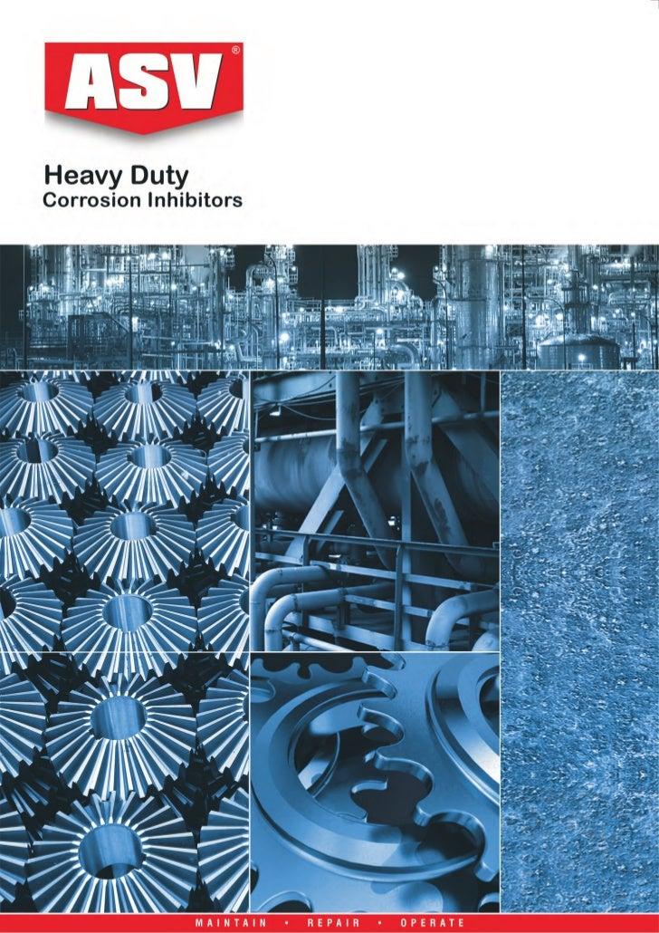 ASV Heavy Duty Corrosion Inhibitors Selection Guide 2011