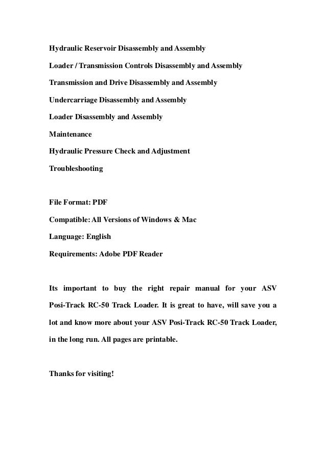 asv positrack rc50 track loader service repair manual 2 638?cb\=1358021258 asv rc 50 wiring diagram international wiring diagram \u2022 free  at n-0.co