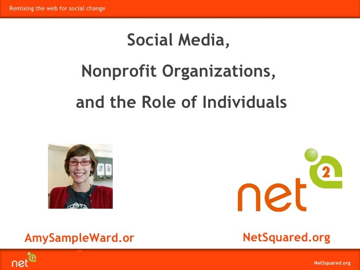 AmySampleWard.org NetSquared.org Social Media,  Nonprofit Organizations,  and the Role of Individuals