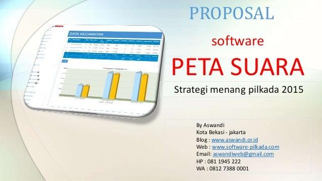 software PETA SUARA PROPOSAL By Aswandi Kota Bekasi - jakarta Blog : www.aswandi.or.id Web : www.software-pilkada.com Emai...