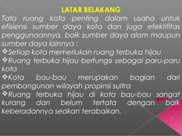 Ruang Terbuka Hijau Oleh Aswar Hamzah PPS-PPLH UNHAS 2014 Slide 2