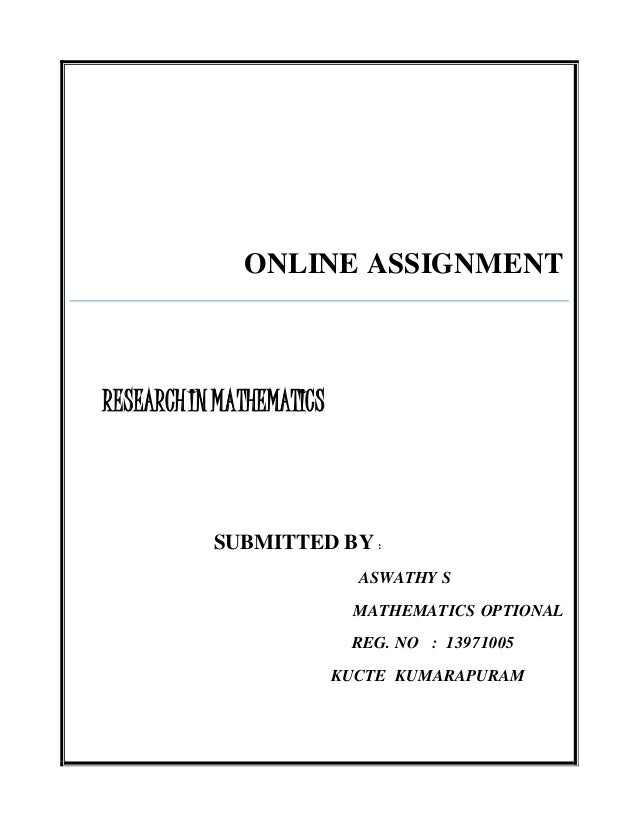 Aswathy s online assignment- research in mathematics education