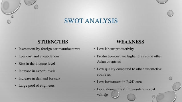 swot of small car industry The article is based on self-driving cars – swot analysis  self-driving car – swot  similar to the aircraft manufacturing industry, even small incidents or.