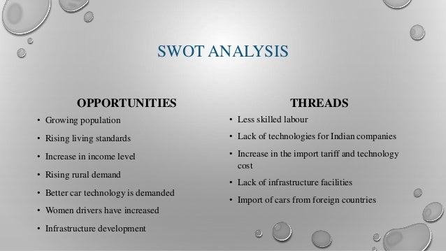 swot analysis of us auto industry Our automotive repair shop swot analysis  the business plan also features a completely automated table of contents as well as industry  english united states.