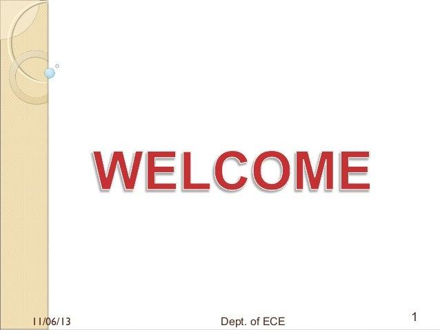 11/06/13  Dept. of ECE  1
