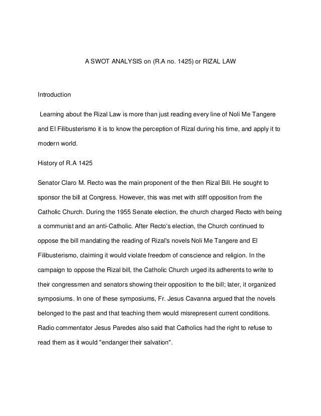 analysis of noli me tangere by jose rizal