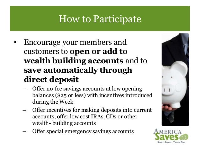 How financial institutions can participate in america - Office of investor education and advocacy ...