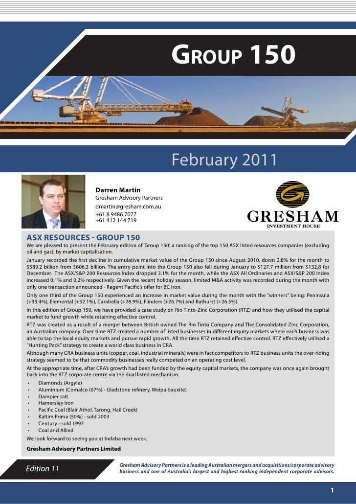 FEBRUARY 2011                                                               Group 150                                     ...