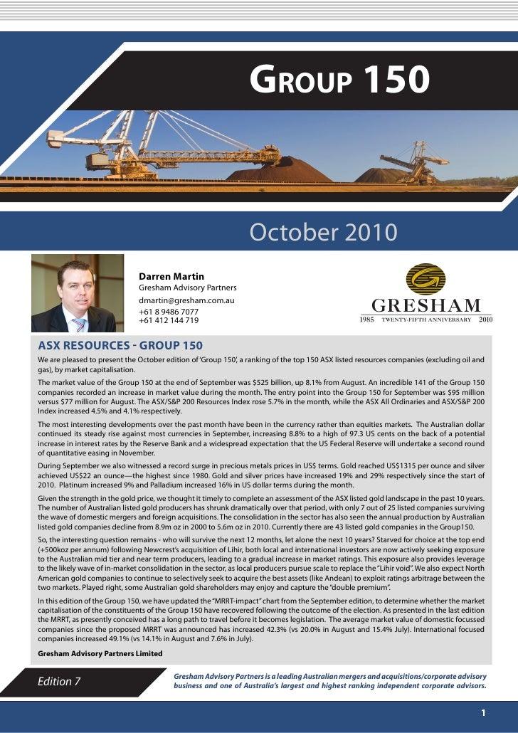 "Gresham ""Group 150"" - October 2010"