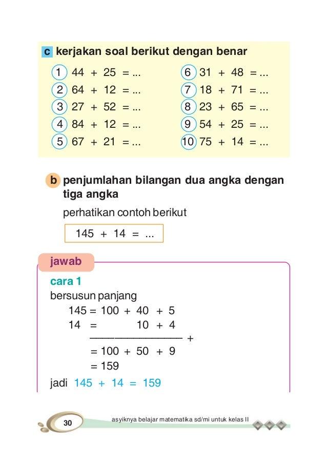 Soal Matematika Sd Kelas 1 Penjumlahan Materi Matematika Sd Kelas 5 Belajar Matematika Contoh
