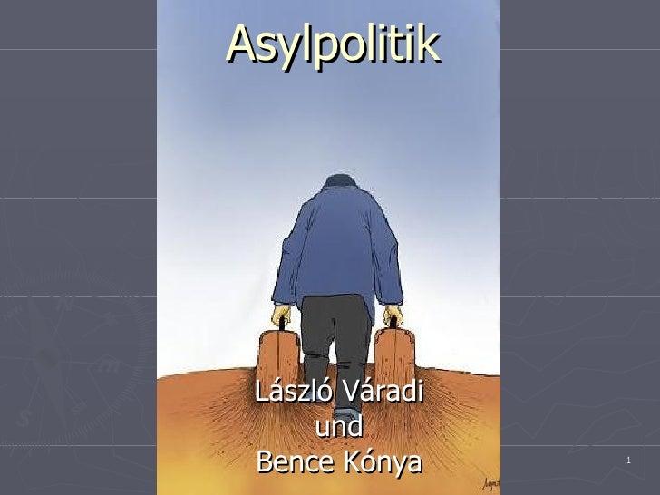 Asylpolitik László Váradi und Bence Kónya