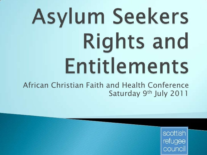 African Christian Faith and Health Conference                         Saturday 9th July 2011