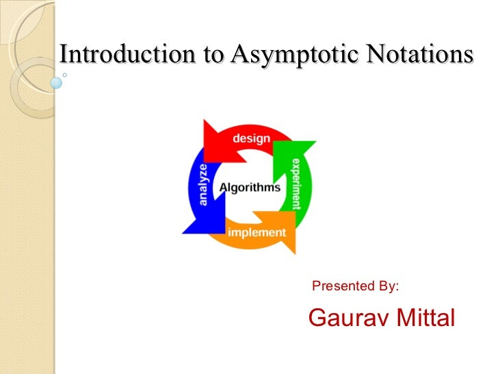 Introduction to Asymptotic Notations Presented By: Gaurav Mittal