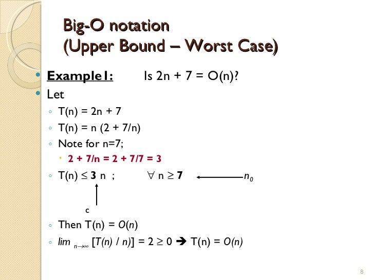 Big-oh notation.