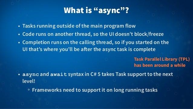Async Await for Mobile Apps