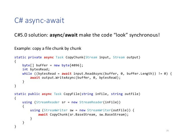 Async Await In C