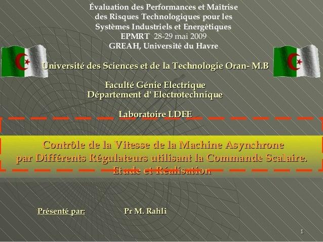 Évaluation des Performances et Maîtrise des Risques Technologiques pour les Systèmes Industriels et Energétiques EPMRT 28-...