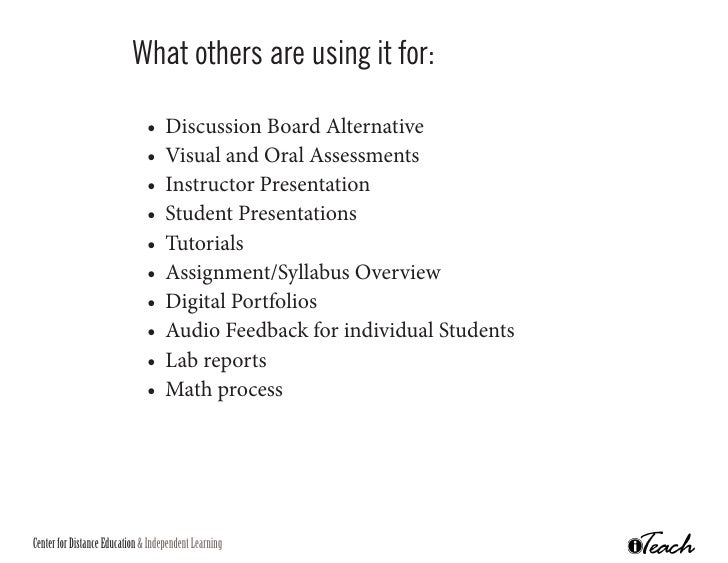 dicussion board assignment If you have trouble getting online students to participate and add value to discussion board assignments perhaps it's time to rethink your activities there.