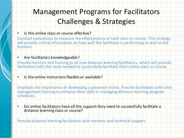 facilitating learning in practice