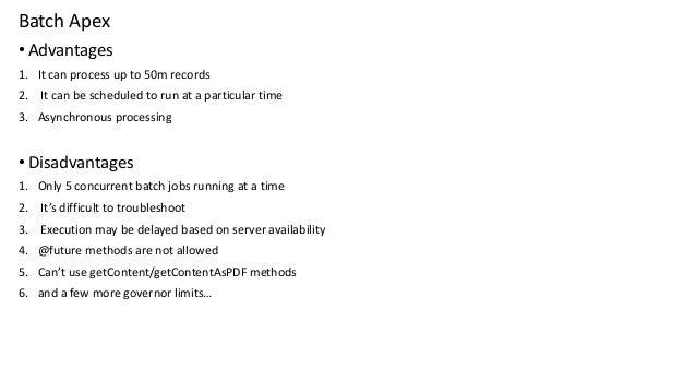 Salesforce asynchronous apex
