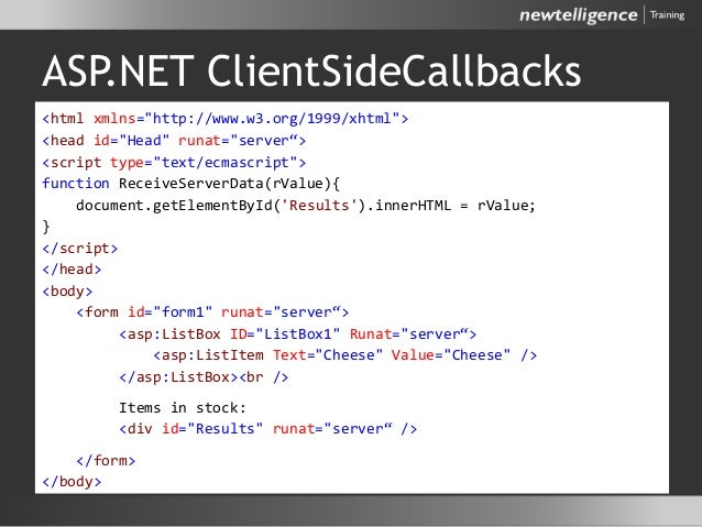 "ASP.NET ClientSideCallbacks <html xmlns=""http://www.w3.org/1999/xhtml""> <head id=""Head"" runat=""server""> <script type=""text..."