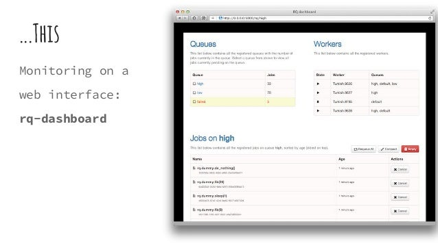 ...This Monitoring on a web interface: rq-dashboard