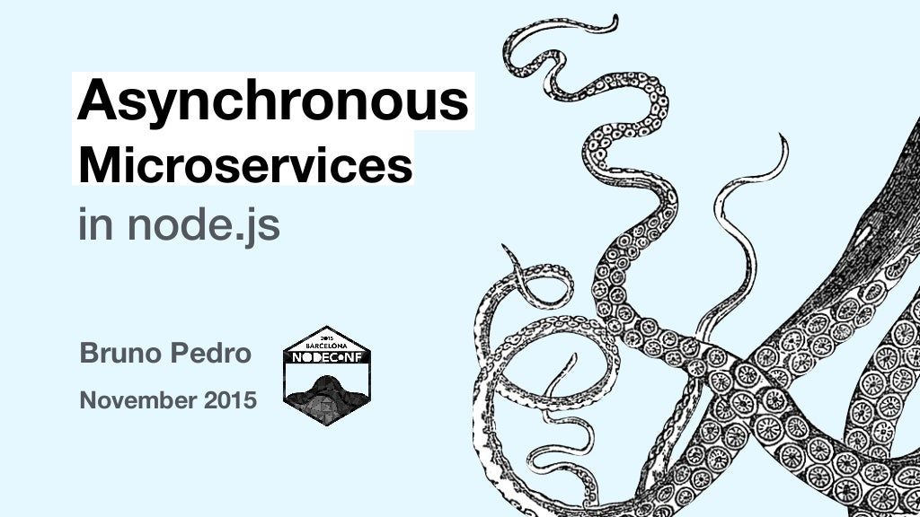Asynchronous Microservices in nodejs