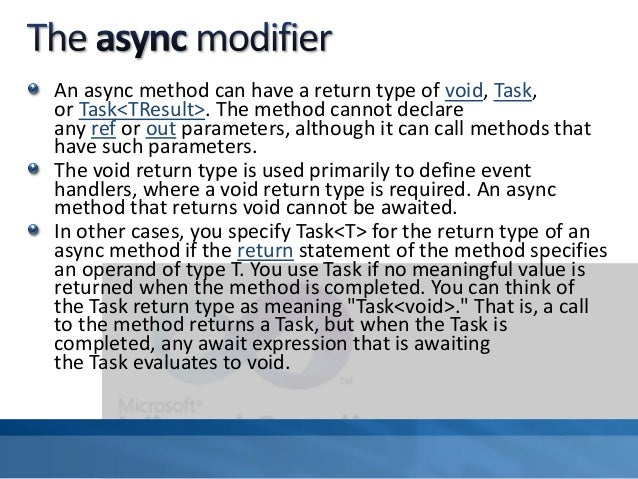 how to call a async method in c