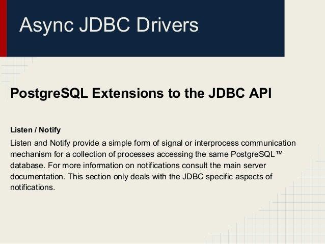 Re Postgresql jdbc driver for PG version 9.5