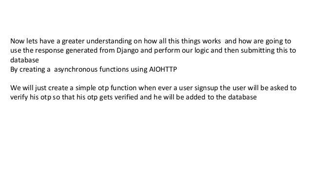 Asynchronous programming with django