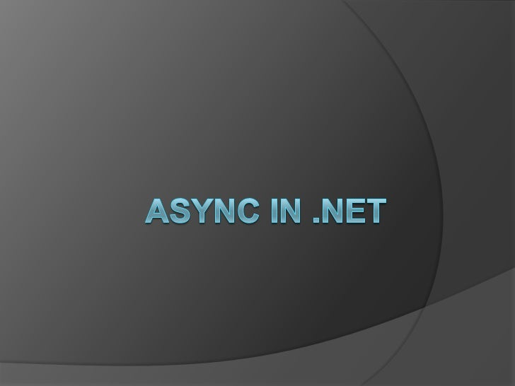 What is Async?   Synchronous     every line of code is executed in order     the next line doesn't execute until the   ...