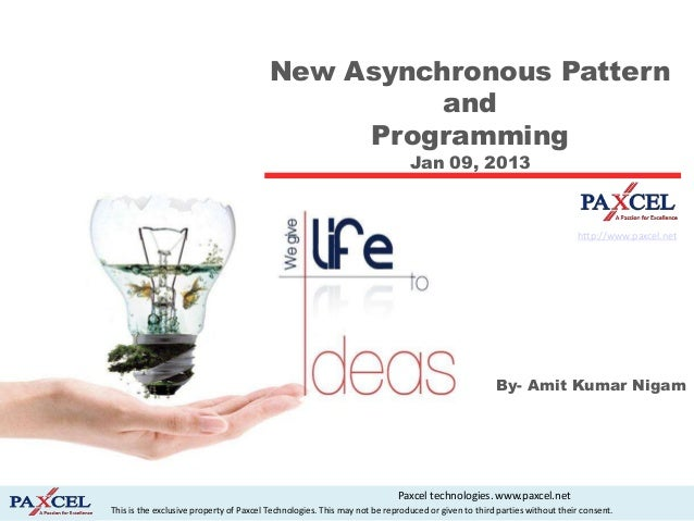 New Asynchronous Pattern                                                   and                                            ...