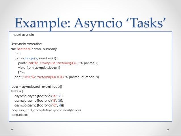 Async programming and python