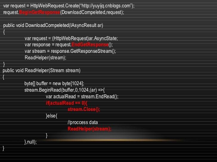 Async programming on NET
