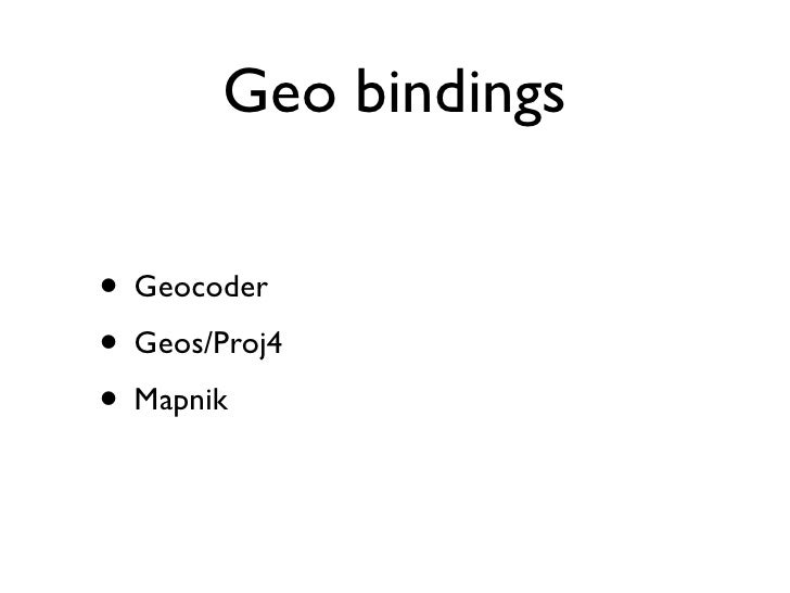 Async  and Realtime Geo Applications with Node js